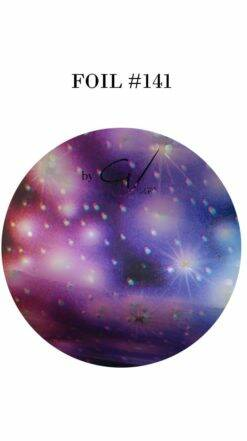 141 blue pink silver starry galaxy