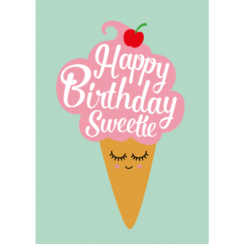 "Postkaart ""Happy Birthday Sweetie"""