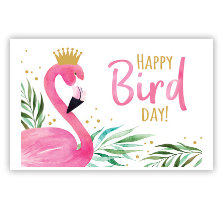 "Wenskaart ""Happy Bird day'"""