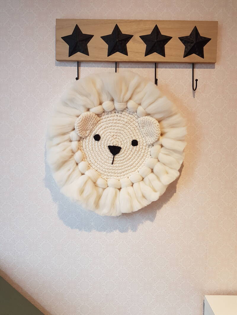 Ijsbeer wandhanger,  polar bear wall art,  kinderkamer decoratie ijsbeer