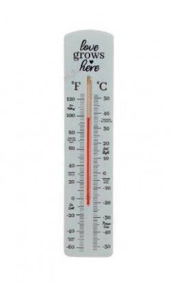 'Love Grows Here' Garden Thermometer