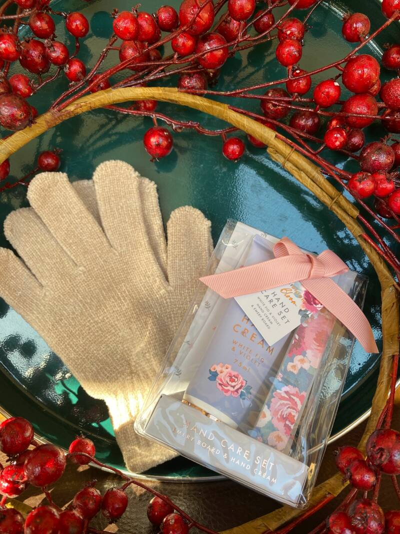 Gloves and Hand Cream