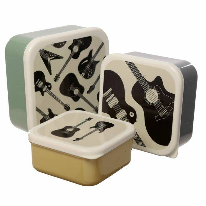 Guitar lunch box - set of 3