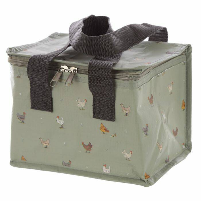 Woven Cool Bag Lunch Box - Willow Farm Chickens