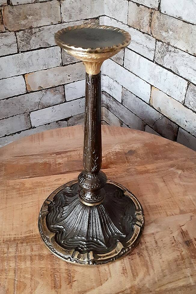 Candle Stand - Brown Gold