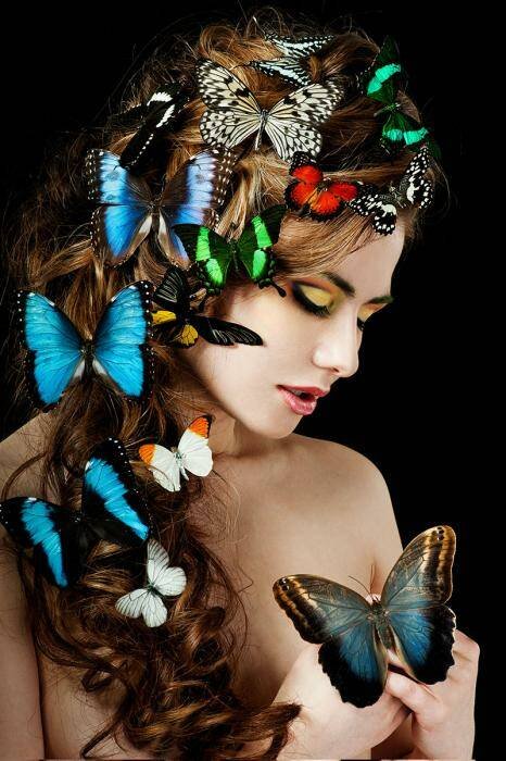 GlasArt Butterfly Hair
