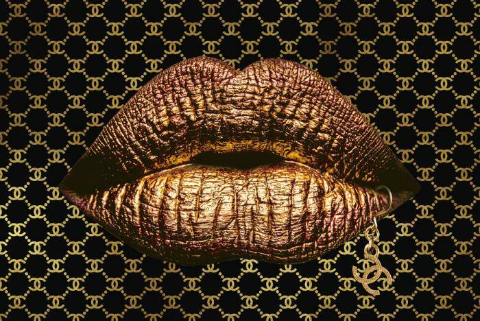 GlasArt Lips of Coco & Chanel