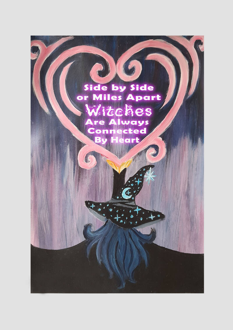 Heart Of A Witch Art Print