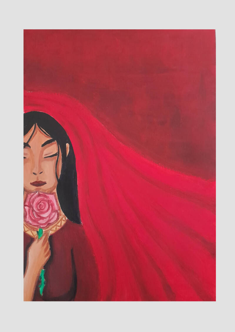 Mary Magdalene Queen of the Roses Art Print