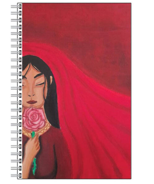 Mary Magdalene Queen of the Roses NoteBook