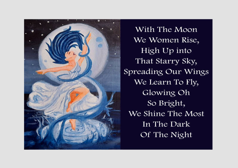 With the Moon I Rise Art Print