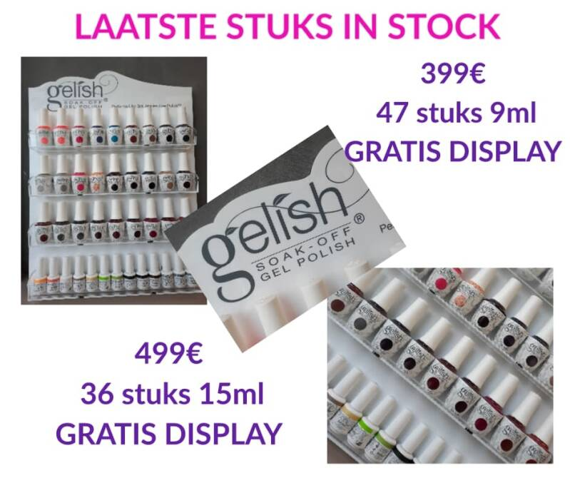 Gelish Display 47 stuks 9ml