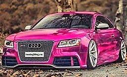 Roze Audi - Diamond Painting