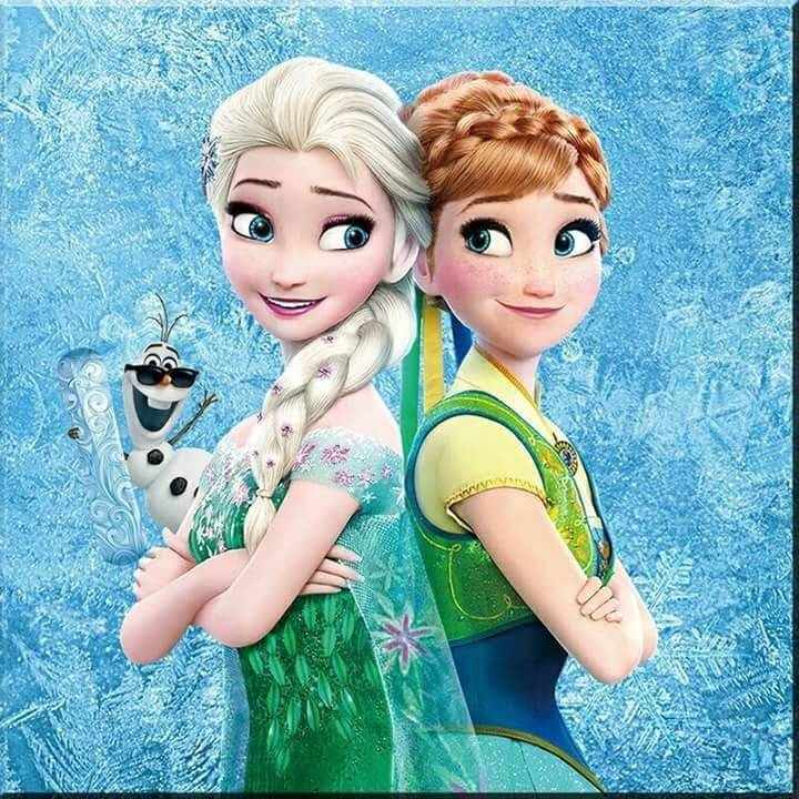 Frozen , groene jurken - Diamond Painting