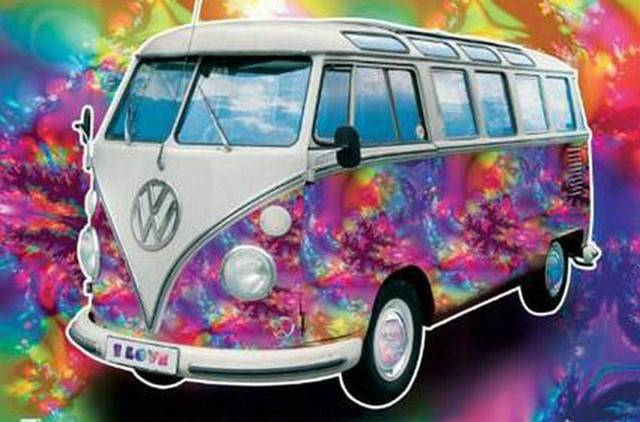 vw bus coller - Diamond painting Rond