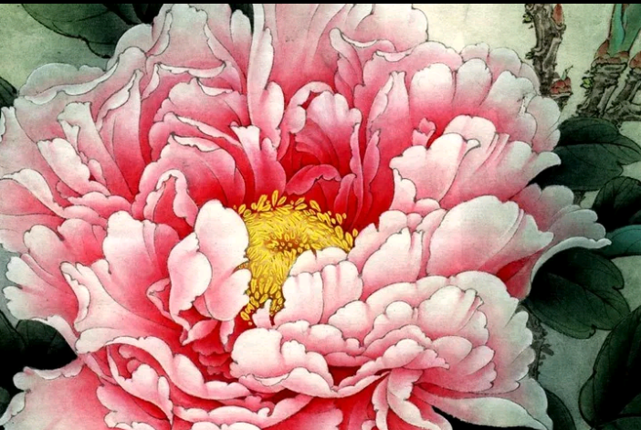 Roze bloem - Diamond Painting