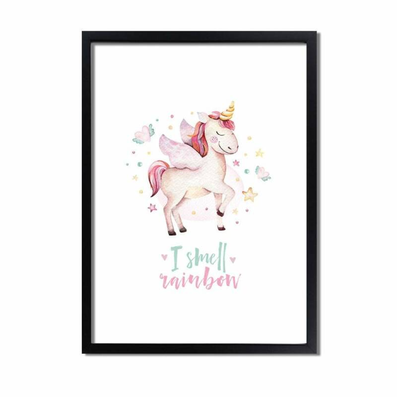 Unicorn kinder kamer poster A3 Formaat