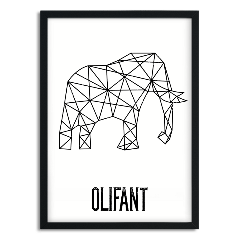 A5 poster - Olifant
