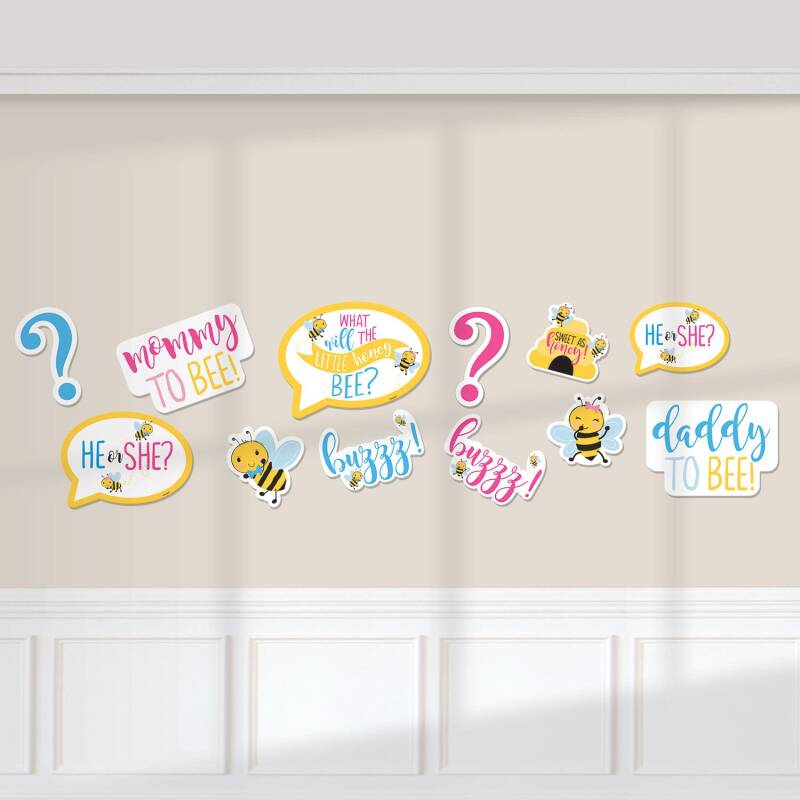 "Amscan Cutouts babyshower ""What will it Bee?""12 stuks junior"