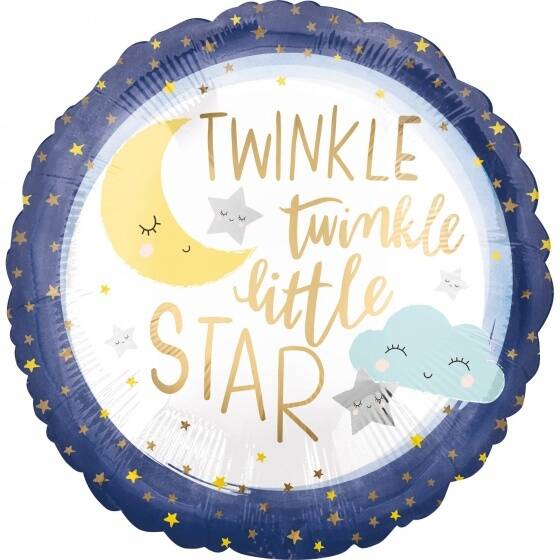 Amscan folieballon 'twinkle little star' 45 cm