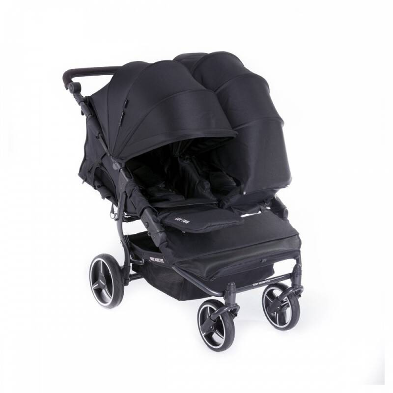 Baby Monsters duokinderwagen Easy Twin zwart