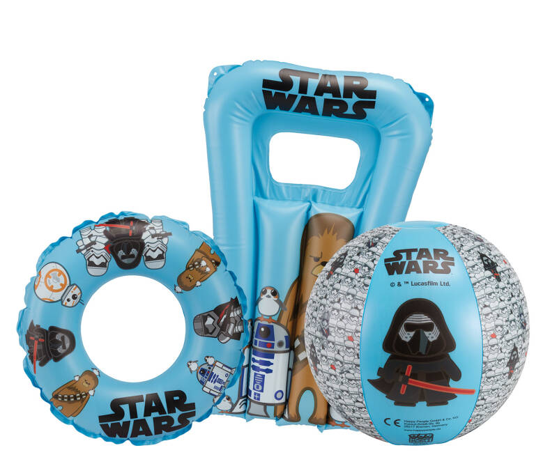 Happy People strandset Star Wars blauw 3-delig