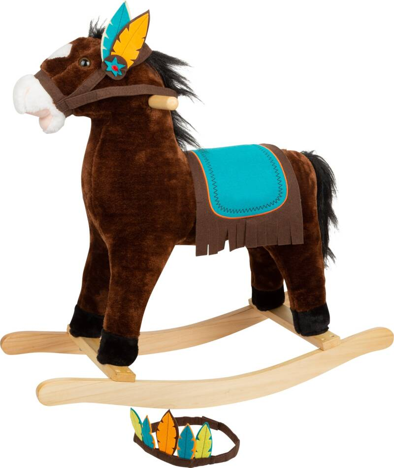 Small Foot hobbelpaard Indian Rocking Horse junior 75 cm bruin