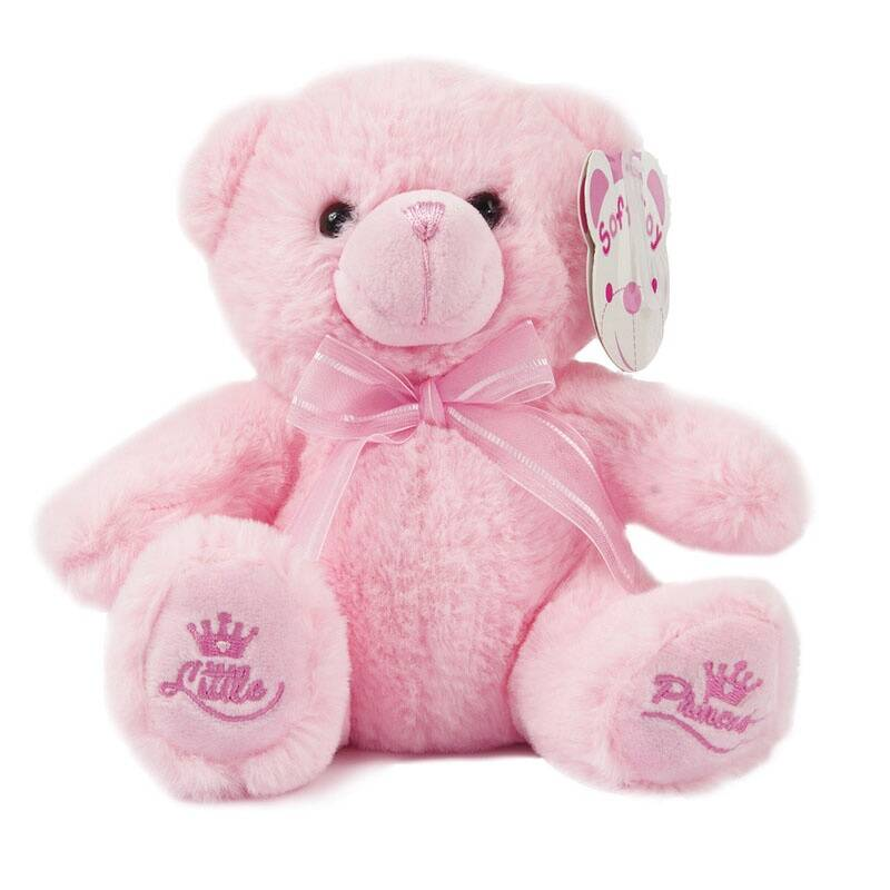 Soft Touch knuffelbeer Little Princess 25 cm roze of blauw