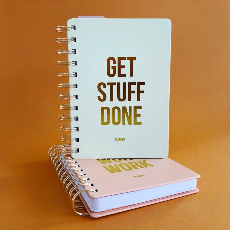 Planner Get stuff done Off white