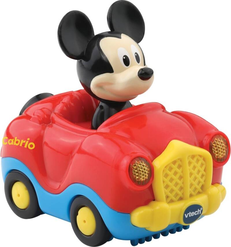VTech Toet Toet auto: Mickey Mouse in cabrio rood