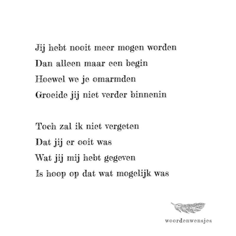 Woordenwensje 'Begin'