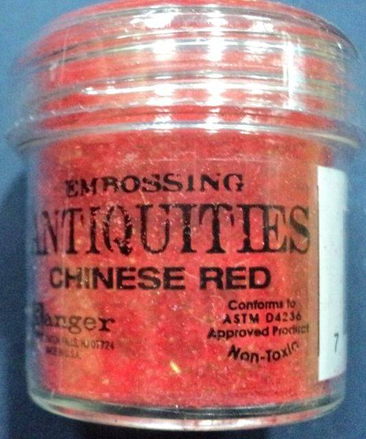 Embossingpulver Antiquities Chinese Red
