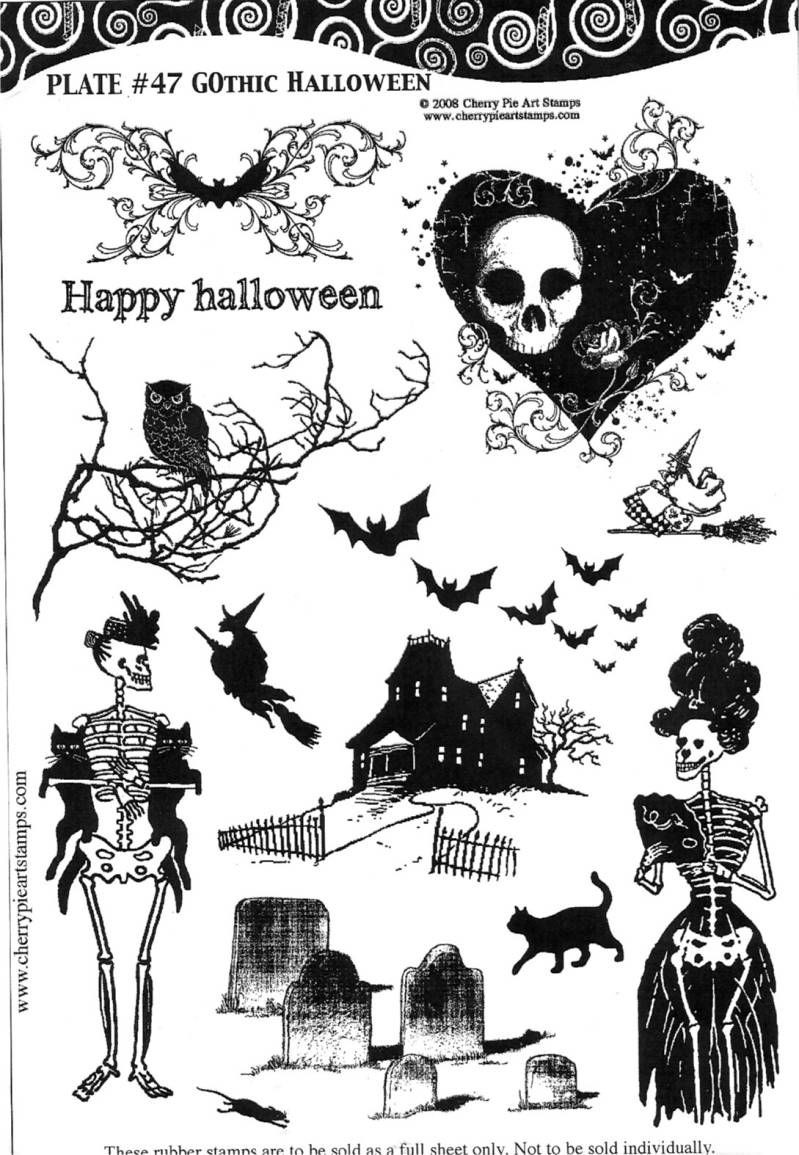 CPPL47 Plate 47 Gothic halloween