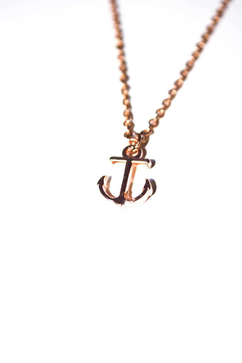 Ketting anker rose gold