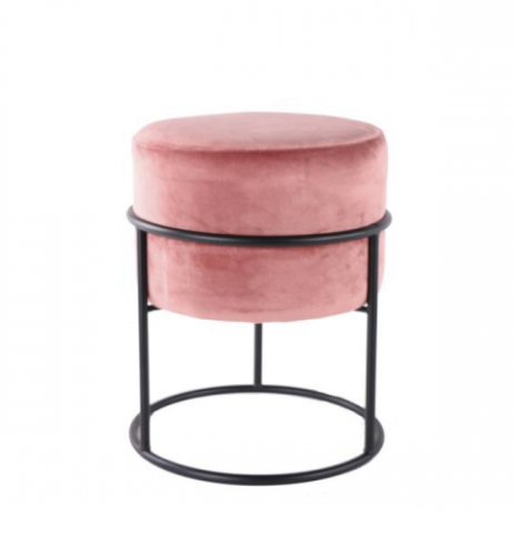 Home Society Footstool Gaby Pink
