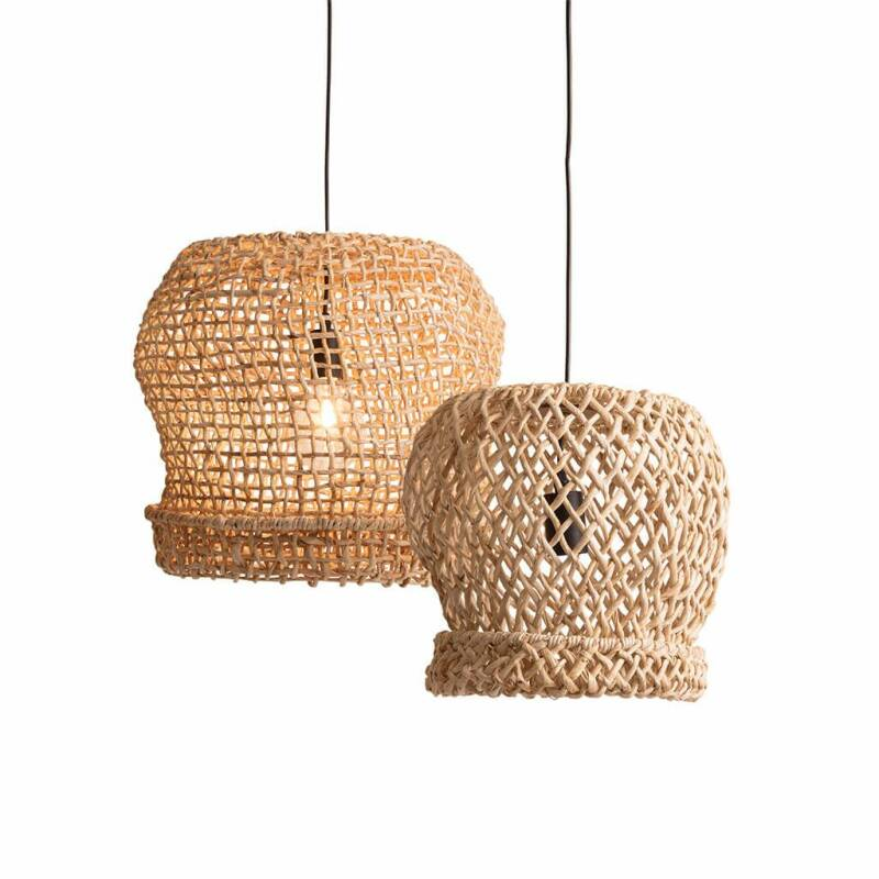 ORIGINAL HOME PALOMA SHADE/BASKET NATURAL - SET 2