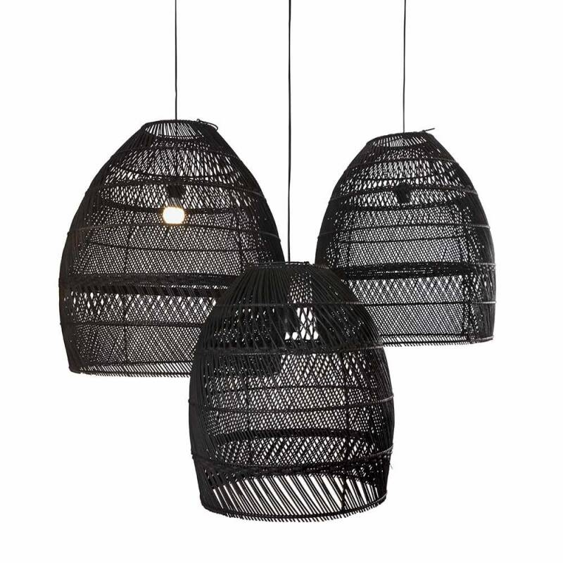 ORIGINAL HOME LAMPSHADE MOON BLACK - SET 3