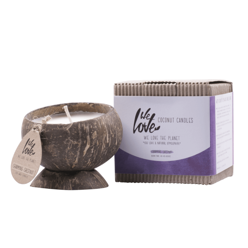 We Love The Planet Coconut Candle Charming Chestnut