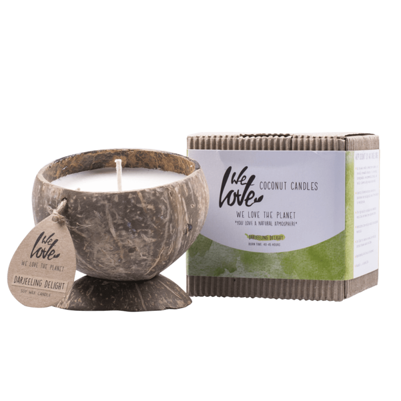 We Love The Planet Coconut Candle Darjeeling Delight
