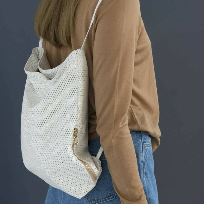 Tinne & Mia Feel Good Backpack Perforated White