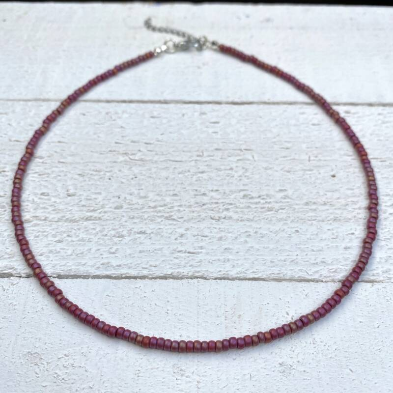 Choker frosted rainbow red