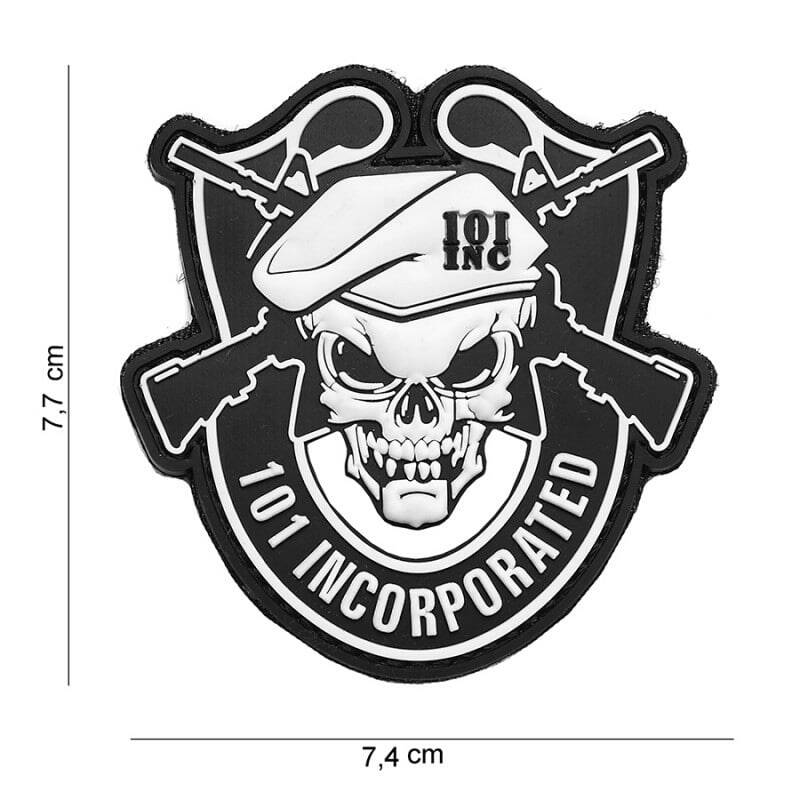 101 INC patch incorparted 3D PVC
