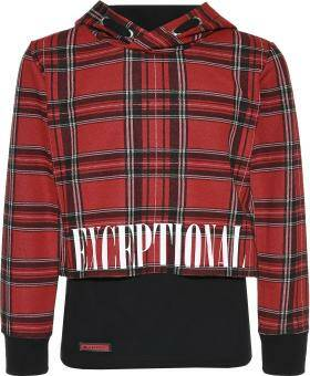 Blue Effect Exceptional Boxy Shirt 2in 1 - Red/Black
