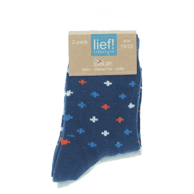 Lief Lifestyle Socks - Blue/Grey