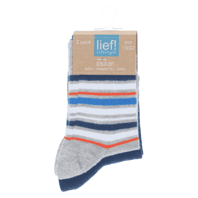 Lief Lifestyle Socks - Blue/Stripe