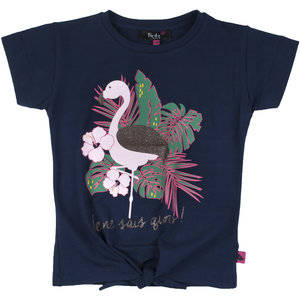 Birds  T-shirt Flamingo - Navy
