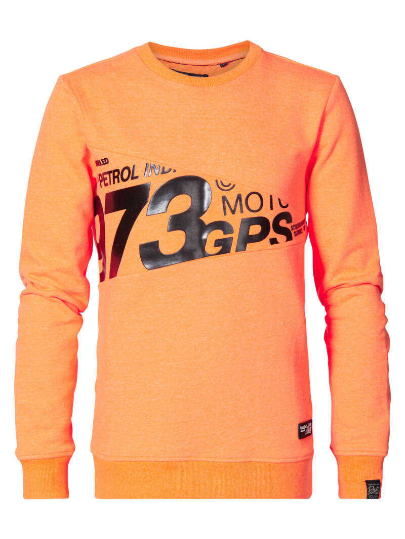 Petrol Industries  kleurrijke sweater - signal orange