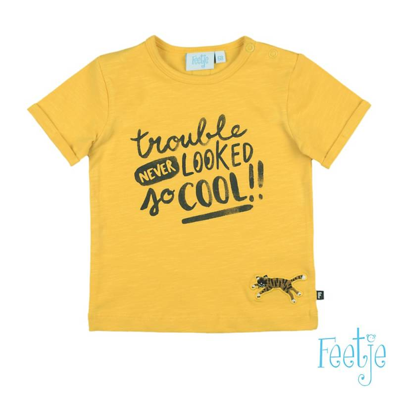 Feetje Shirt Trouble Never Looked - Yellow