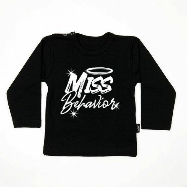 KMDB Sweater Miss Behavior - Black/White
