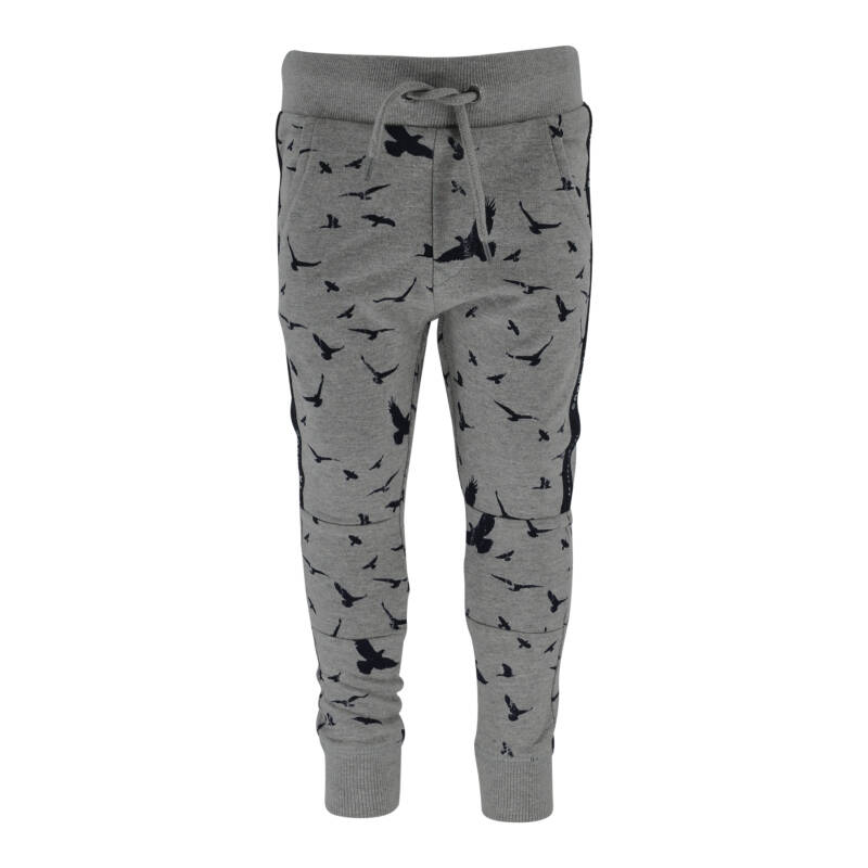 Born to be Famous Broek Tino - Grey Melange Aop Bird Print